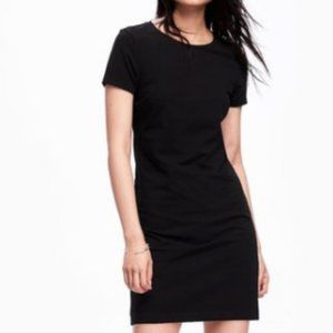 Old Navy Fitted Crew-Neck Black Tee Dress NWOT